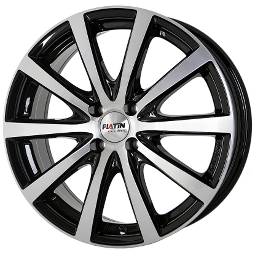 Platin P69 7.0x17 5x100 ET35 63.4 Black machined face rim