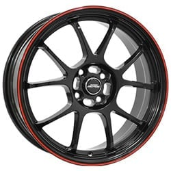 Inter Action Phoenix 7.0x16 5x114.3 ET40 73.1 Black red lip rim