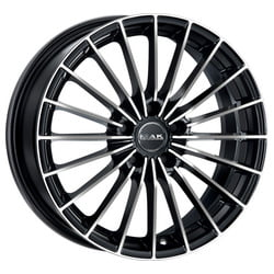 Cerchi Mak Volare Plus 7.5x17 5x114.3 ET40 76 Glossy black polished face